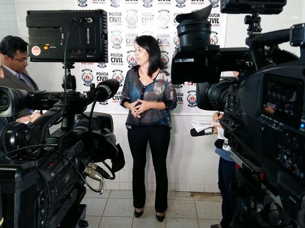 Delegada da Polícia Civil de Uberlândia, Gabriela Damasceno  (Foto: Caroline Aleixo/G1)