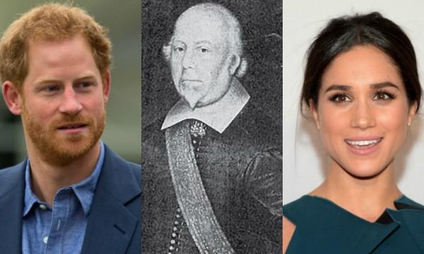 Príncipe Harry, Lord Hussey e Meghan Markle (Foto: Getty Images/Reprodução)