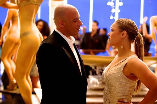 Vin Diesel e Ronda Rousey (Foto: Divulgação)