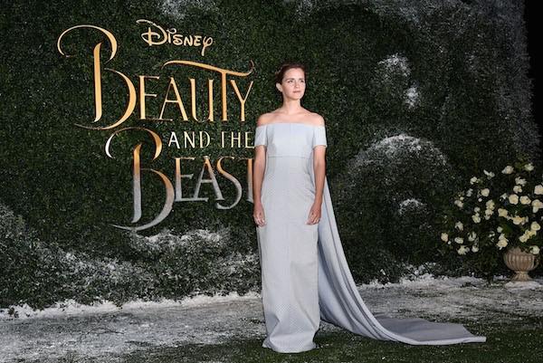 Emma Watson no lançamento de A Bela e a Fera em Londres (Foto: Getty Images)