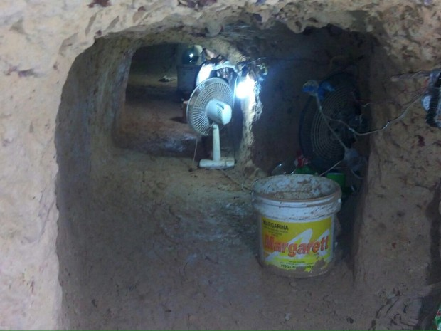 Escavação Túnel Centro de Recuperação Penitenciário do Pará  (Foto: Divulgação/Inteligência Susipe)