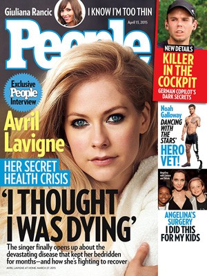 Avril Lavigne na capa da 'People'