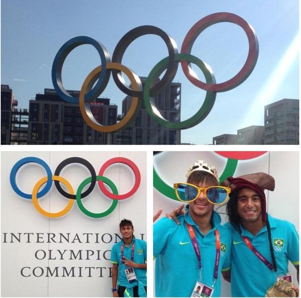 Neymar mostra fotos de visita a vila olímpica (Foto: Reprodução / Instagram)