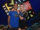 Sophia Abrahão e Sergio Malheiros vão a camarote na Bahia