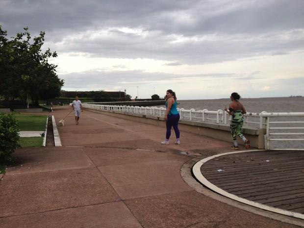 Frequentadores do Parque do Forte ficam com medo de assalto registrado toda semana (Foto: Maiara Pires/G1)