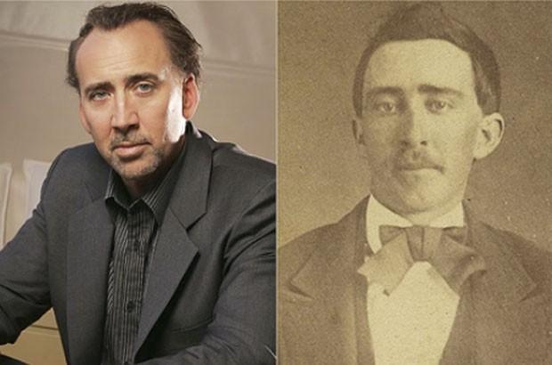 No ano passado, uma foto de 1870, que estava sendo leiloada na internet, chamou a atenção por parecer com o ator norte-americano Nicolas Cage. A imagem  imagem era de um homem de Bristol, no Tennessee. (Foto: Reprodução)