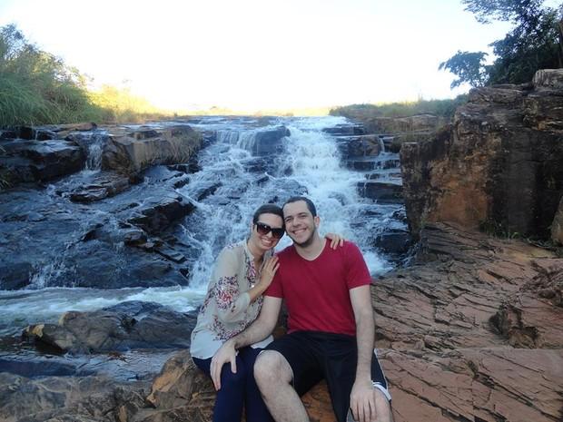 Curada do câncer de mama, Lívia diz que quer curtir ao máximo os momentos com o namorado, Luiz Fabiano (Foto: Divulgação/Arquivo Pessoal)