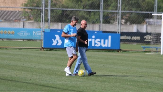 Renato Gaúcho Portaluppi Valdir Espinosa Grêmio (Foto: Eduardo Moura/GloboEsporte.com)