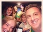 Angélica, Huck,Thiaguinho, Fê Souza e Ana Maria vão juntos ao Maracanã