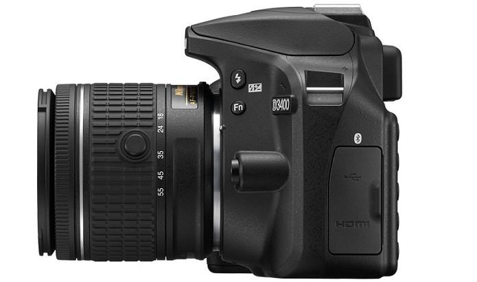 D3400 traz conexão Bluetooth, USB e HDMI (Foto: Divulgação/Nikon) (Foto: D3400 traz conexão Bluetooth, USB e HDMI (Foto: Divulgação/Nikon))