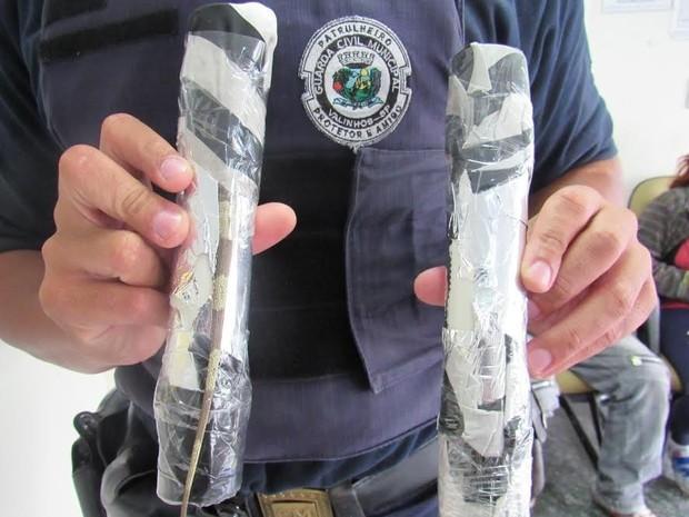 Iguanas são encontradas dentro de encomenda nos Correios de Valinhos (SP) (Foto: Guarda Municipal de Valinhos)