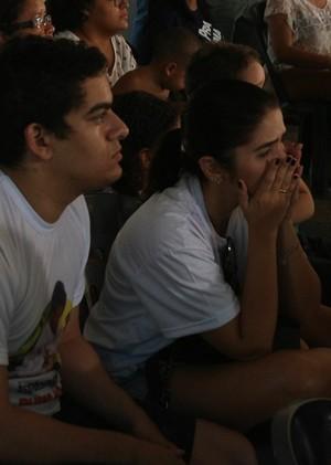 Torcida acompanha em Teresina Sarah Menezes (Foto: Wenner Tito )