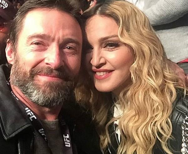 Hugh Jackman e Madonna (Foto: Reprodução Instagram)