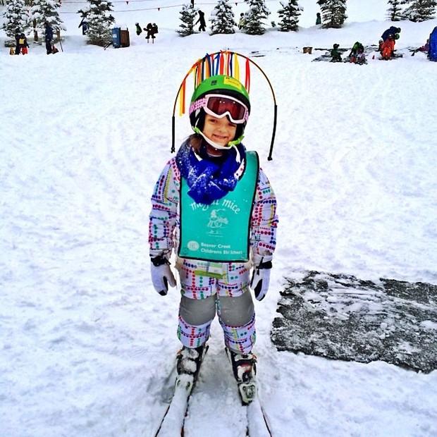 Rafa Justus esquia pela primeira vez, no Colorado (Foto: Reprodução/Instagram)