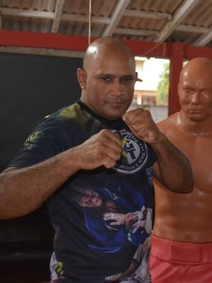 Emerson Melo e Francinildo encontro de artes marciais (Foto: Diego Torres)