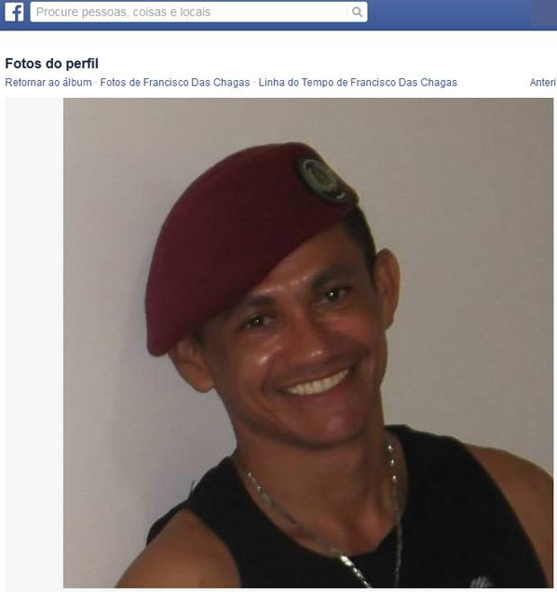 Francisco da Chagas era segurança de Wellington há 10 anos (Foto: Reprodução/Facebook)