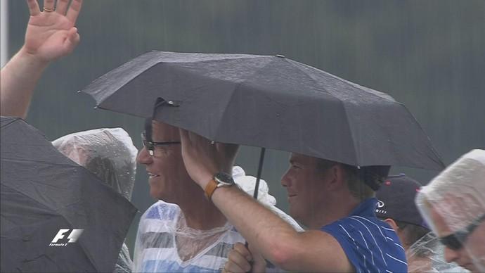 Chuva atingiu Circuito de Spielberg durante treino classificatório (Foto: Divulgação)