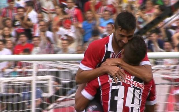 Boschilia gol São Paulo (Foto: SporTV)