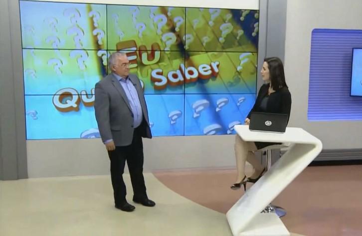 Patrícia Rocha e Paulo Souto durante o Bom Dia Paraíba (Foto: Reprodução)