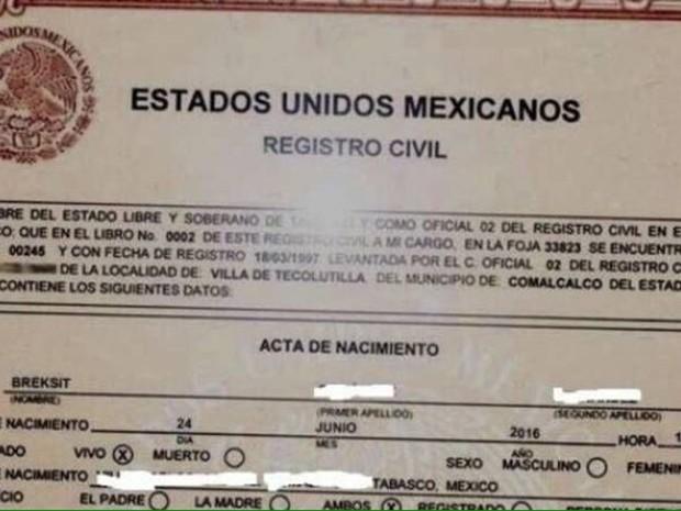Mexicana foi registrada como 'Breksit' após referendo no Reino Unido (Foto: Reprodução Twitter)