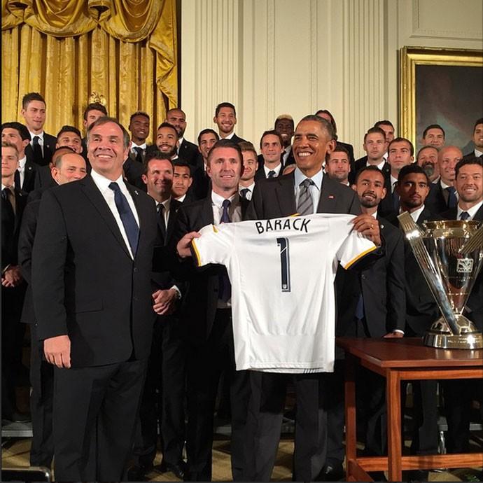 LA Galaxy com Obama (Foto: Reprodução/ Instagram)
