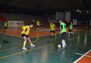 Campeonato Municipal de Futsal no ginásio do Sesi, em Rio Branco (Foto: Wescley Camelo)