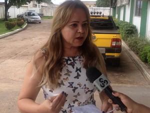 Lucimar Lima, prefeita de Calçoene (Foto: John Pacheco/G1)