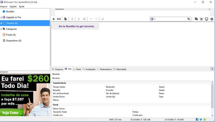 BitTorrent tem ferramentas completas e integração com dispositivos móveis (Foto: Reprodução/Barbara Mannara)