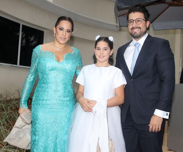 Silvia Abravanel com a filha, Amanda, e o marido Edu Pedroso (Foto: Thiago Duran/AgNews)