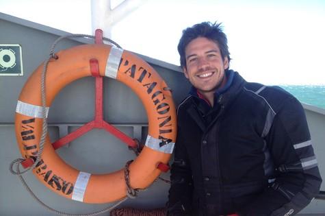 Marco Pigossi na Patagônia (Foto: Arquivo pessoal)
