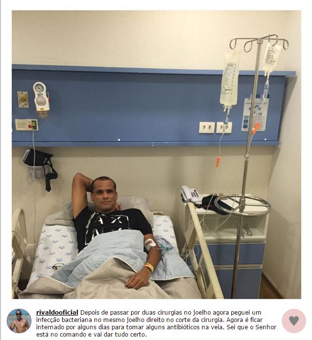 BLOG: Rivaldo pega infecção bacteriana após cirurgia no joelho e é internado