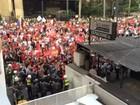PM entra em confronto com manifestantes em ato na Av. Paulista