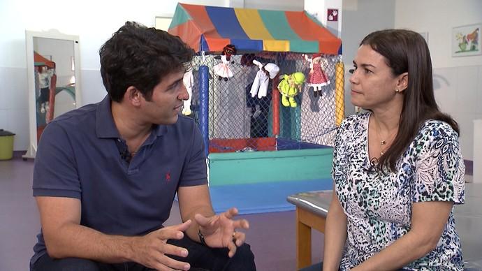 Assistente social Rita Borges fala sobre o voluntariado no IBR (Foto: TV Bahia)