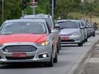 Taxistas fazem protesto e pedem fiscalização do Uber em Sorocaba