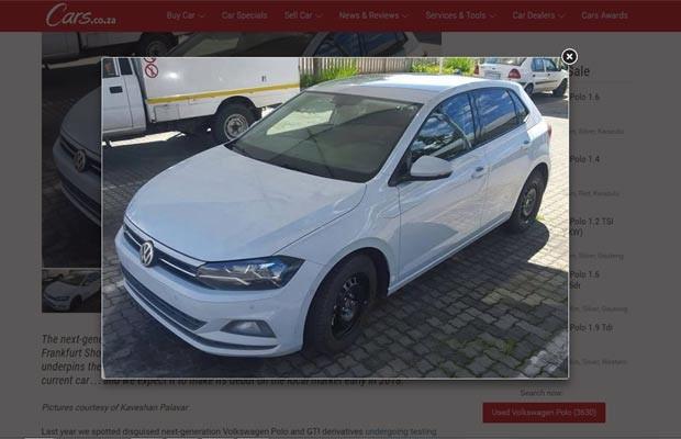 Volkswagen Polo 2018 é flagrado sem camuflagem na África do Sul (Foto: Reprodução / Cars.co.za)