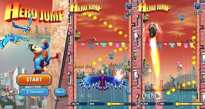Com os heróis atrapalhados de Hero Jump, você não precisa de inimigos (Foto: Divulgação)
