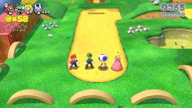 Imagem do game 'Super Mario 3D World' para o videogame Wii U, da Nintento. (Foto: Divulgação/Nintendo)