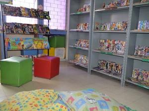 Biblioteca de Aracaju contém acervo com mais de 4,5 mil gibis (Foto: Marina Fontenele/G1)