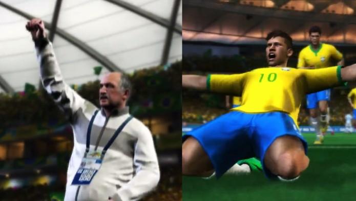Felipão e Neymar estão no trailer do novo 2014 Fifa World Cup Brazil (Foto: Reprodução/ Youtube)