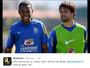 """Robinho deseja bom retorno a Diego, e manda recado: """"Mas já sabe, né?"""""""