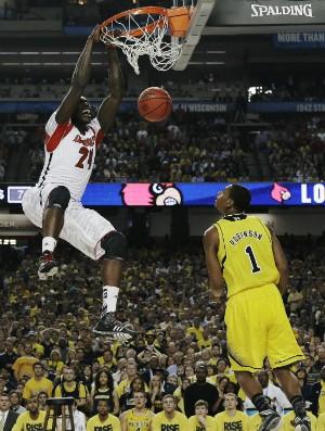 Montrezl Harrel e Glenn Robinson III, NCAA - AP (Foto: AP)