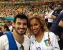 Torcedores tietam namoradas de atacantes italianos na Arena Amazônia