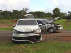 Duas mulheres ficam feridas em acidente em cruzamento de rodovias