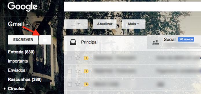 Opção para criar um novo e-mail criptografado no Gmail (Foto: Reprodução/Marvin Costa)
