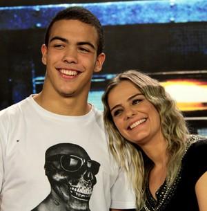 Ronald conta que esquece que é filho de Ronaldo (Marcos Mazini/Gshow)