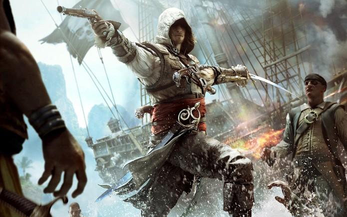 Assassin's Creed 4: Black Flag agregou piratas ao universo de AC (Foto: Divulgação/Ubisoft) (Foto: Assassin's Creed 4: Black Flag agregou piratas ao universo de AC (Foto: Divulgação/Ubisoft))