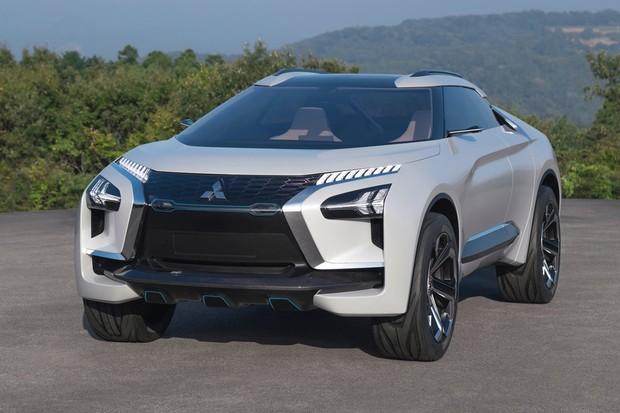 Dianteira do e-Evolution Concept utiliza o conceito de escudo em X dos demais Mitsubishis (Foto: Divulgação)