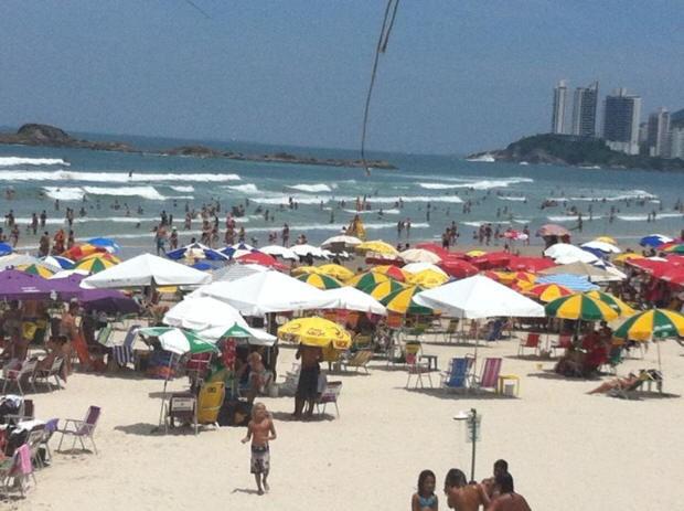 Praia de Pitangueiras, (Foto: Vanessa Faro / TV Tribuna)