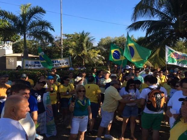 Aracaju (SE): Manifestantes protestam no Bairro 13 de Julho (Foto: Tassio Andrade/G1)