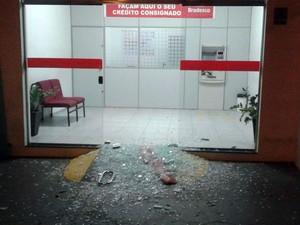 Explosivo da segunda agência bancária não detonou, segundo PM (Foto: Samuel Lucas Procópio/Cedida)